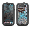 The Abstract Subtle Toned Floral Strokes Samsung Galaxy S4 LifeProof Nuud Case Skin Set
