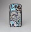 The Abstract Subtle Toned Floral Strokes Skin-Sert Case for the Samsung Galaxy S4