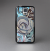 The Abstract Subtle Toned Floral Strokes Skin-Sert Case for the Samsung Galaxy S5