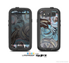 The Abstract Subtle Toned Floral Strokes Skin For The Samsung Galaxy S3 LifeProof Case