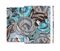 The Abstract Subtle Toned Floral Strokes Full Body Skin Set for the Apple iPad Mini 3