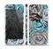 The Abstract Subtle Toned Floral Strokes Skin Set for the Apple iPhone 5