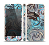 The Abstract Subtle Toned Floral Strokes Skin Set for the Apple iPhone 5s