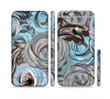 The Abstract Subtle Toned Floral Strokes Sectioned Skin Series for the Apple iPhone 6