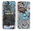 The Abstract Subtle Toned Floral Strokes Skin for the Apple iPhone 5c