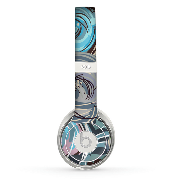The Abstract Subtle Toned Floral Strokes Skin for the Beats by Dre Solo 2 Headphones