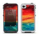 The Abstract Sunset Painting Apple iPhone 4-4s LifeProof Fre Case Skin Set