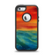 The Abstract Sunset Painting Apple iPhone 5-5s Otterbox Defender Case Skin Set