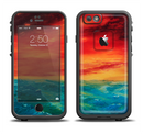 The Abstract Sunset Painting Apple iPhone 6/6s Plus LifeProof Fre Case Skin Set