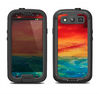The Abstract Sunset Painting Samsung Galaxy S4 LifeProof Nuud Case Skin Set