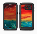 The Abstract Sunset Painting Full Body Samsung Galaxy S6 LifeProof Fre Case Skin Kit