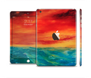 The Abstract Sunset Painting Full Body Skin Set for the Apple iPad Mini 3