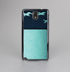 The Abstract Swirled Two Toned Green with Birds Skin-Sert Case for the Samsung Galaxy Note 3