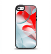 The Abstract Teal & Red Love Connect Apple iPhone 5-5s Otterbox Symmetry Case Skin Set