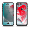 The Abstract Teal & Red Love Connect Apple iPhone 6/6s LifeProof Fre Case Skin Set