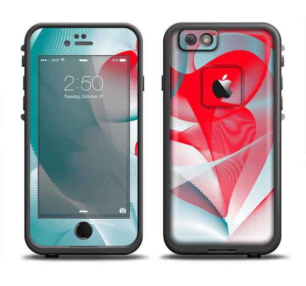wholesale dealer b15f4 bbfef The Abstract Teal & Red Love Connect Apple iPhone 6/6s LifeProof Fre Case  Skin Set