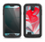 The Abstract Teal & Red Love Connect Samsung Galaxy S4 LifeProof Nuud Case Skin Set