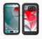 The Abstract Teal & Red Love Connect Full Body Samsung Galaxy S6 LifeProof Fre Case Skin Kit