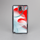 The Abstract Teal & Red Love Connect Skin-Sert Case for the Samsung Galaxy Note 3