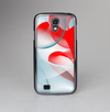 The Abstract Teal & Red Love Connect Skin-Sert Case for the Samsung Galaxy S4