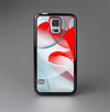 The Abstract Teal & Red Love Connect Skin-Sert Case for the Samsung Galaxy S5