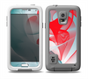 The Abstract Teal & Red Love Connect Skin for the Samsung Galaxy S5 frē LifeProof Case