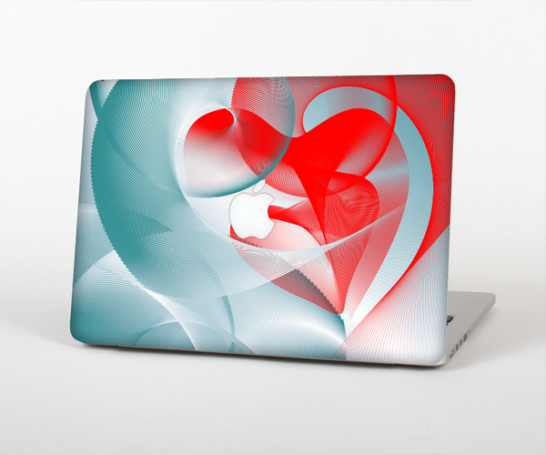 The Abstract Teal & Red Love Connect Skin Set for the Apple MacBook Air 11""