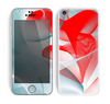 The Abstract Teal & Red Love Connect Skin for the Apple iPhone 5c
