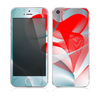 The Abstract Teal & Red Love Connect Skin for the Apple iPhone 5s