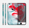 The Abstract Teal & Red Love Connect Skin for the Apple iPhone 6