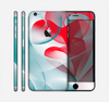 The Abstract Teal & Red Love Connect Skin for the Apple iPhone 6 Plus