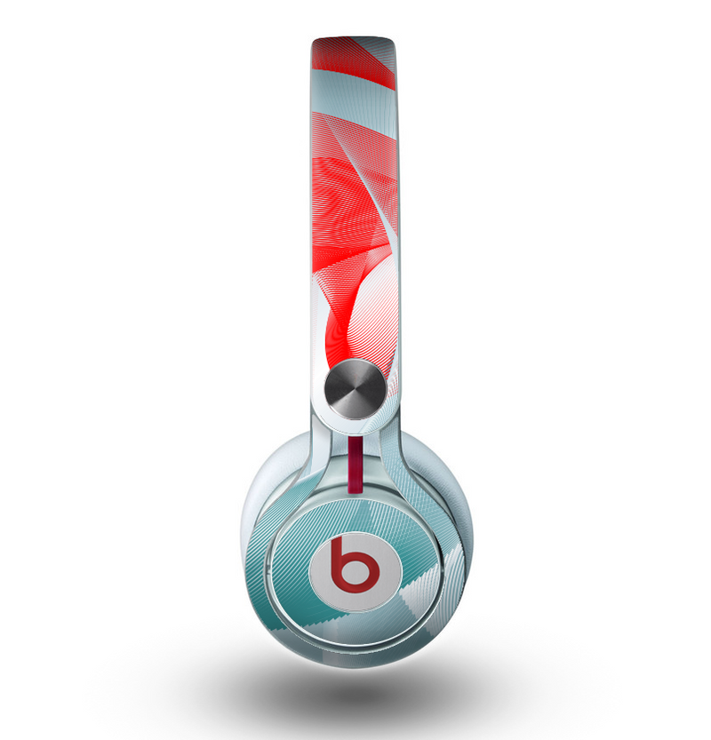 The Abstract Teal & Red Love Connect Skin for the Beats by Dre Mixr Headphones