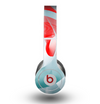 The Abstract Teal & Red Love Connect Skin for the Beats by Dre Original Solo-Solo HD Headphones