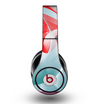 The Abstract Teal & Red Love Connect Skin for the Original Beats by Dre Studio Headphones