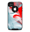The Abstract Teal & Red Love Connect Skin for the iPhone 4-4s OtterBox Commuter Case
