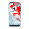 The Abstract Teal & Red Love Connect Skin for the iPhone 5c OtterBox Commuter Case