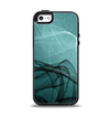 The Abstract Teal and Black Curves Apple iPhone 5-5s Otterbox Symmetry Case Skin Set