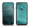 The Abstract Teal and Black Curves Apple iPhone 6/6s Plus LifeProof Fre Case Skin Set