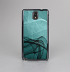 The Abstract Teal and Black Curves Skin-Sert Case for the Samsung Galaxy Note 3