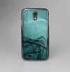The Abstract Teal and Black Curves Skin-Sert Case for the Samsung Galaxy S4