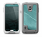 The Abstract Teal and Black Curves Skin for the Samsung Galaxy S5 frē LifeProof Case