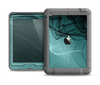 The Abstract Teal and Black Curves Apple iPad Mini LifeProof Nuud Case Skin Set