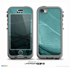 The Abstract Teal and Black Curves Skin for the iPhone 5c nüüd LifeProof Case