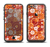 The Abstract Vector Gold & White Circle Swirls Apple iPhone 6/6s Plus LifeProof Fre Case Skin Set