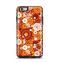 The Abstract Vector Gold & White Circle Swirls Apple iPhone 6 Plus Otterbox Symmetry Case Skin Set