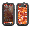 The Abstract Vector Gold & White Circle Swirls Samsung Galaxy S4 LifeProof Fre Case Skin Set