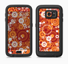 The Abstract Vector Gold & White Circle Swirls Full Body Samsung Galaxy S6 LifeProof Fre Case Skin Kit
