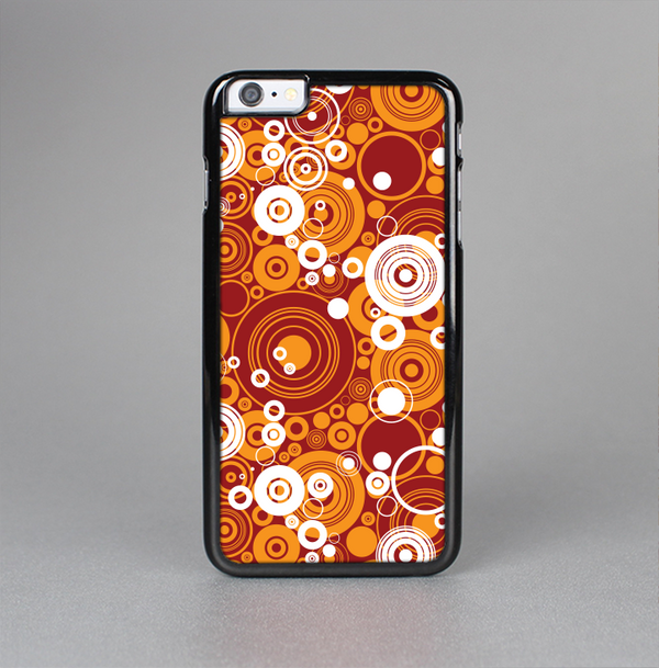 The Abstract Vector Gold & White Circle Swirls Skin-Sert Case for the Apple iPhone 6 Plus