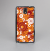 The Abstract Vector Gold & White Circle Swirls Skin-Sert Case for the Samsung Galaxy Note 3