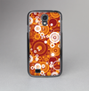 The Abstract Vector Gold & White Circle Swirls Skin-Sert Case for the Samsung Galaxy S4